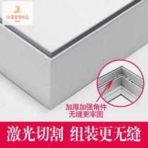 软膜天花缝边龙骨平码码码u软膜灯箱专用铝合金型材辅材