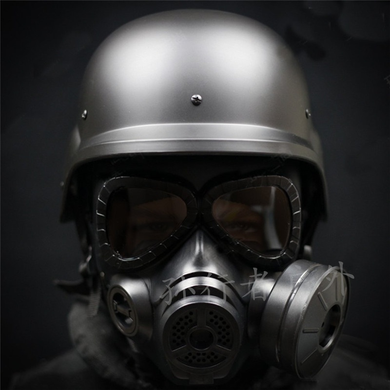 Impact equipment, gas mask, full face, chicken eating props, full face, biochemical crisis, childrens head protection.