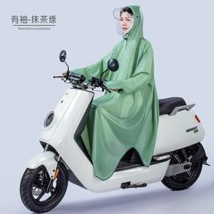 电动电瓶自行车成人雨衣男女全身长款 大人透明雨 防暴雨单人带袖