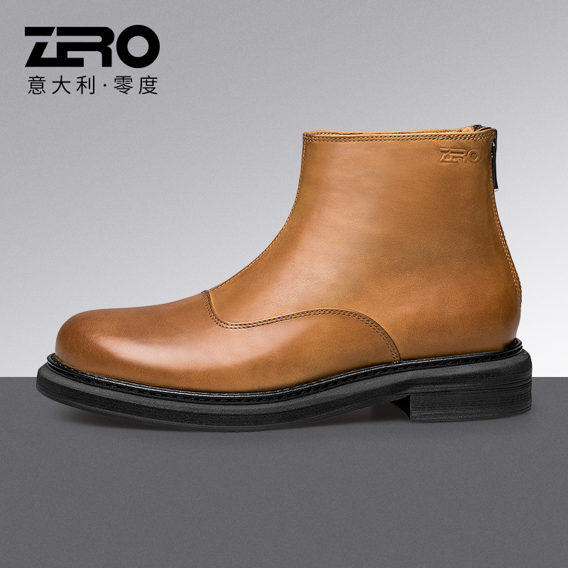 Zero Zero 2021 spring and autumn fashion Martin boots mens lace up high top shoes mens leather desert boots winter