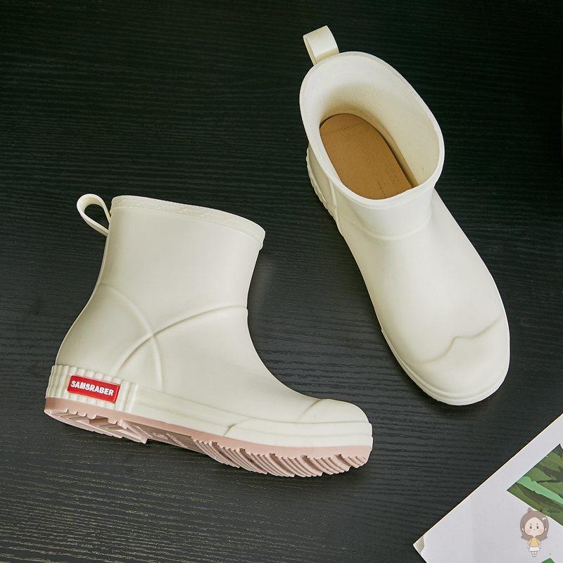 雨鞋女时尚款外穿夏天短筒软底雨靴中筒加绒加厚水靴防滑防水水鞋