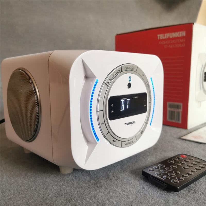 德国德律闹钟插卡U优盘收机外贸电脑有源蓝牙音箱30W大功率重低音