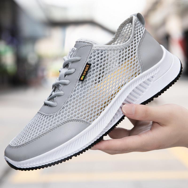 FbzK男网鞋2021夏季新款透气网面运动鞋潮流舒适软底男士休闲鞋