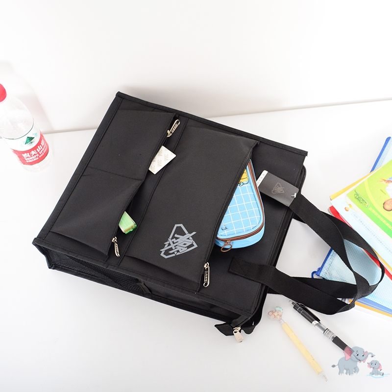 Student girl canvas material meeting document briefcase carrying large capacity document bag business bag carrying mans bag
