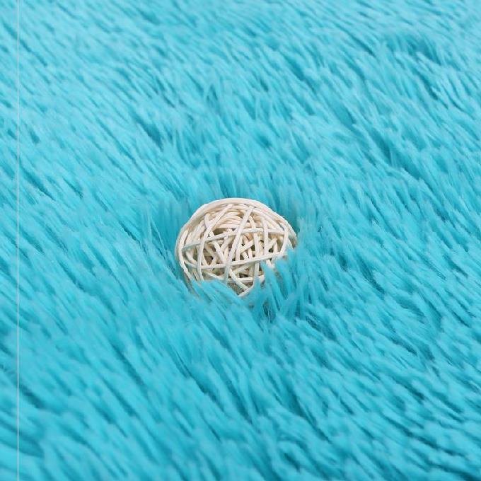 垫防滑丝绒毛桌卧室化妆毛毯地毯法兰绒毛多色地圆形吊床垫化妆台