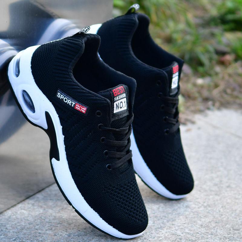 夏季男鞋透气网鞋布鞋工作潮鞋帆布鞋男士百搭休闲运动大码鞋子