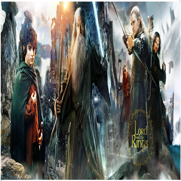 Custom made Lord of the rings / Gandalf the Lord of the rings / Baggins 500 / 1000 pieces of wooden puzzle toys for men