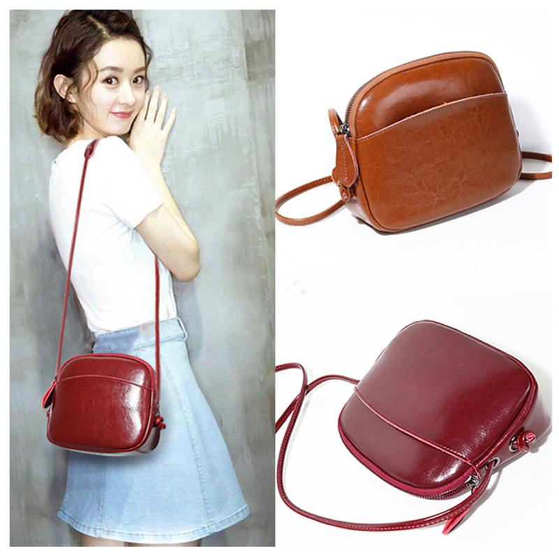 真皮小包包2021新款潮时尚单肩斜挎包贝壳包网红大容量女包手机包