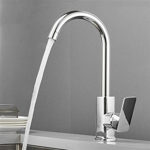 All copper faucet kitchen main body single cooling tap x hot and cold rotatable sink vegetable washing basin single handle single hole stainless steel