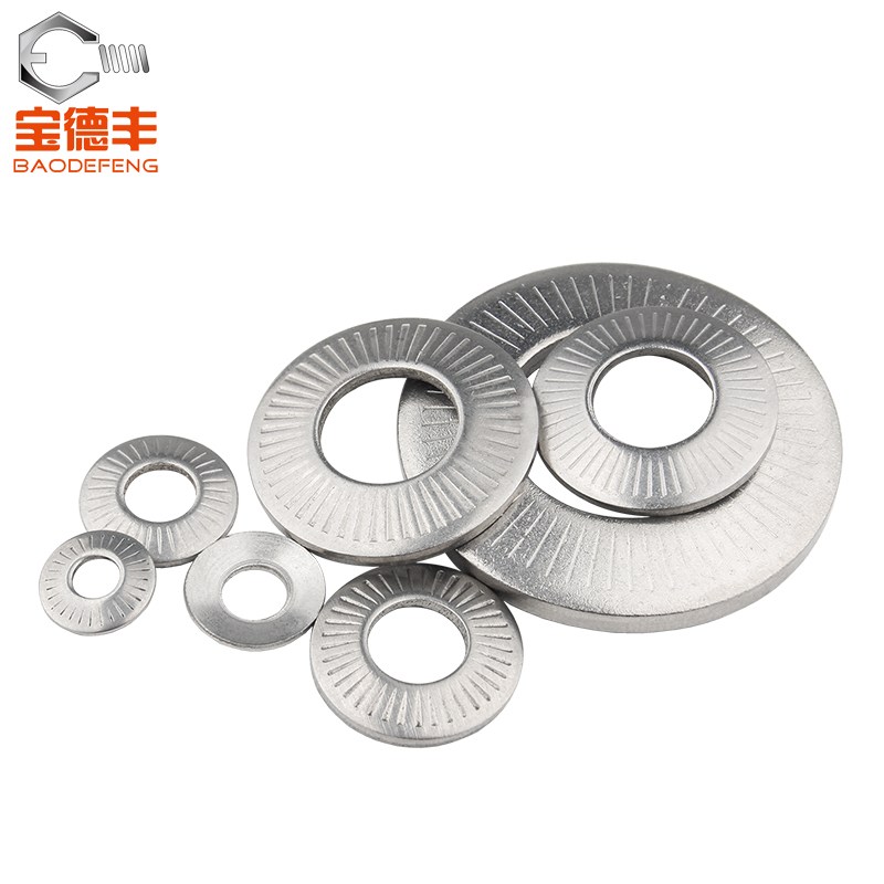 304 stainless steel butterfly / saddle single face flower tooth washer anti slip gasket m4m5m6m8m10m12m16m20