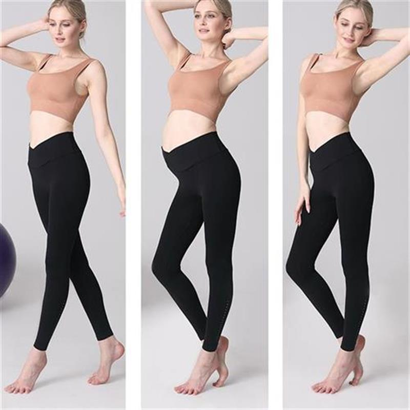 Pregnant women Yoga suit for women after childbirth o fitness autumn and winter pregnant women low waist autumn and winter outer t put on clothes and trousers women autumn and winter