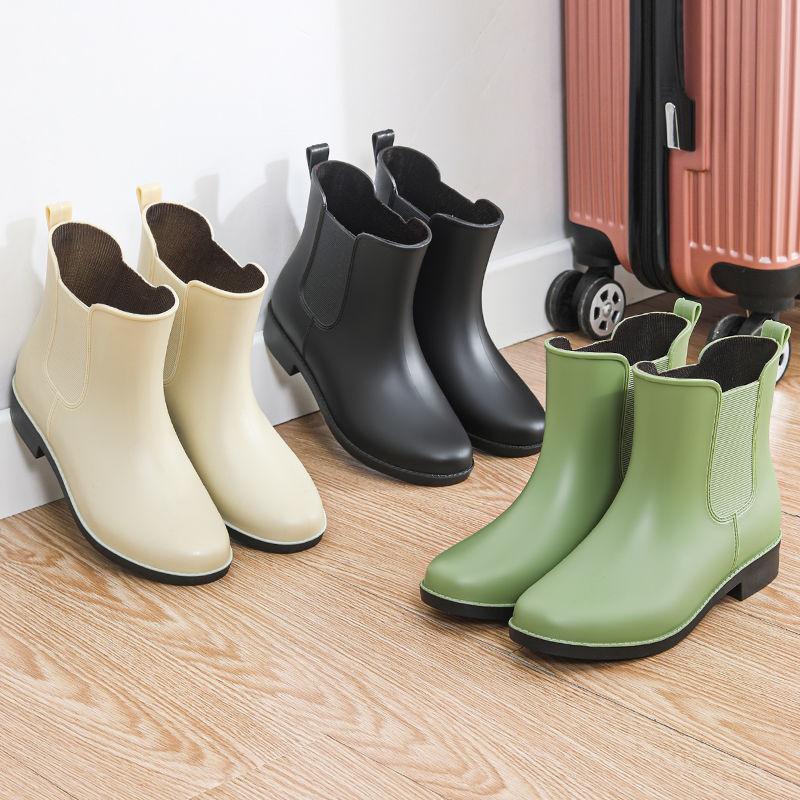 中國代購 中國批發-ibuy99 靴子女 雨鞋女防水鞋短筒时尚百搭水鞋女加棉保暖雨靴雨鞋女防滑靴子女