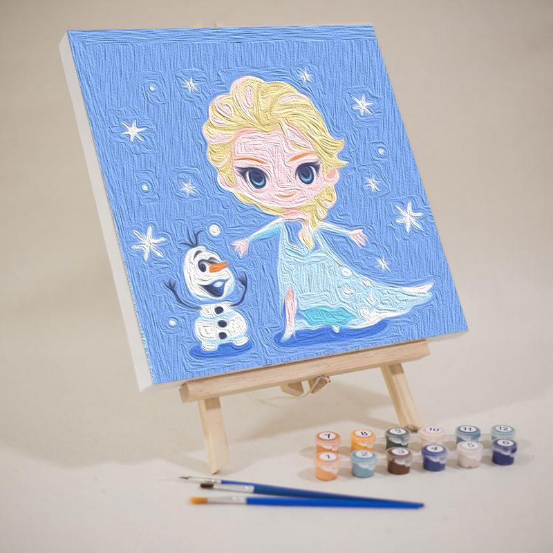 diy数字油画手工儿童油彩画画填色治愈定制小尺寸填充水彩装饰画