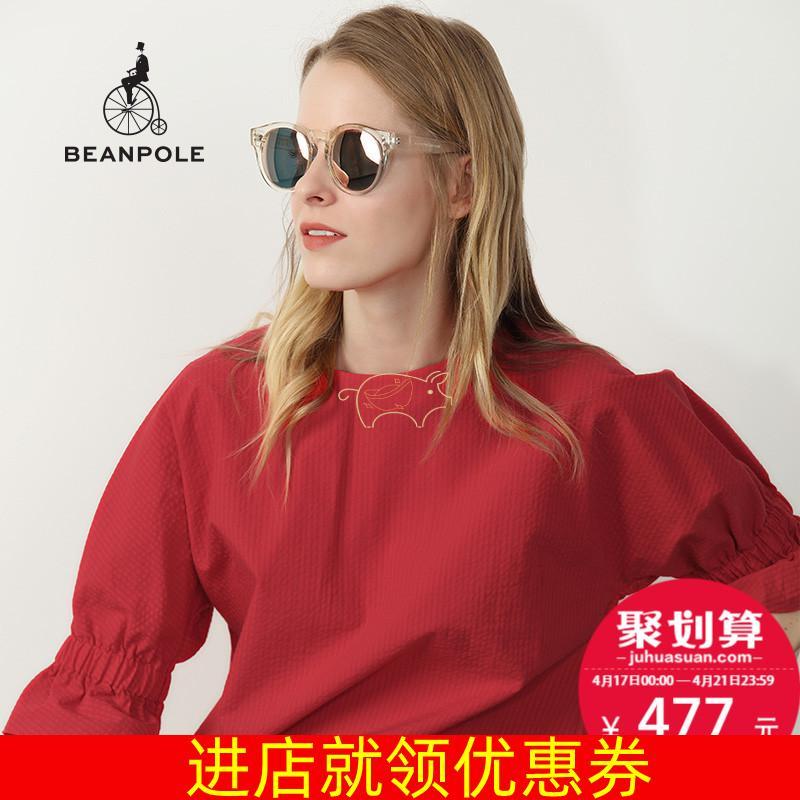 BEANPOLE滨波 夏季新品女士法式文艺设计短袖衬衫