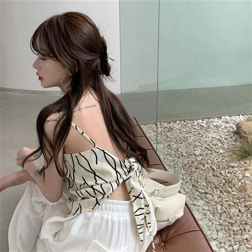 At the end of the towel bra suspender vest is irregular V female pattern minority sexy, with silk summer Korean version heart