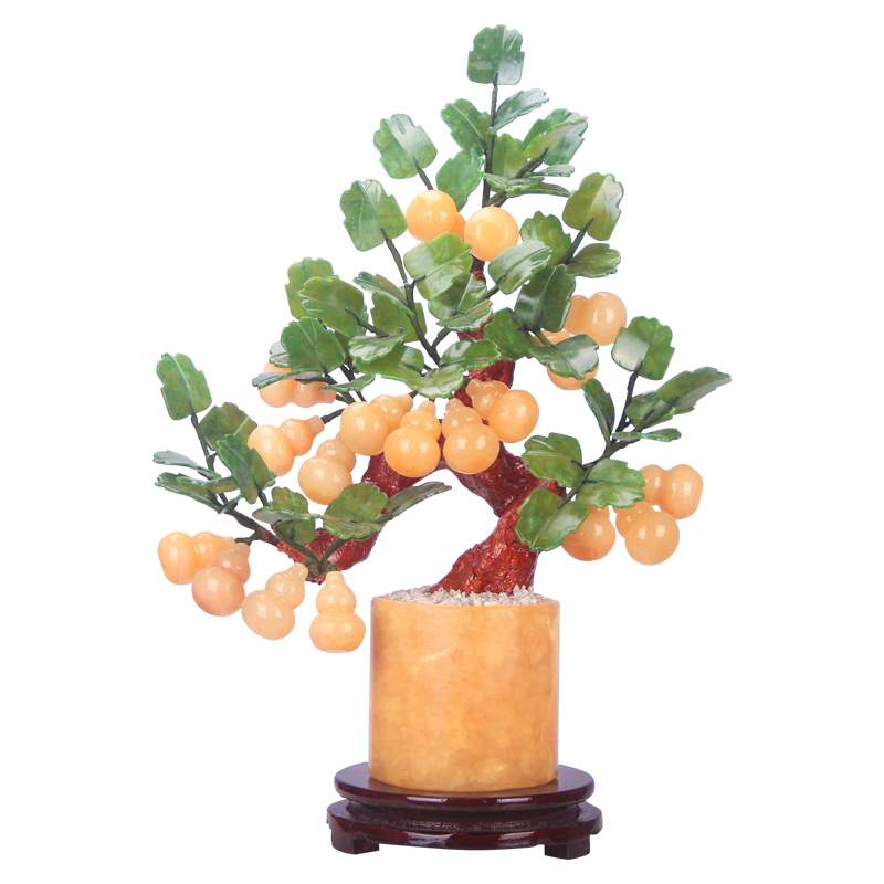 Household Topaz Chinese natural gourd jade porch new living room crafts bonsai decorations bonsai ornaments