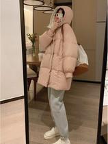 新款连帽加厚减龄韩版宽松中长款羽绒服女冬2020大被子行走VEEE