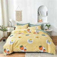 零帛生态磨毛印花四件套被套床单床上套件用品