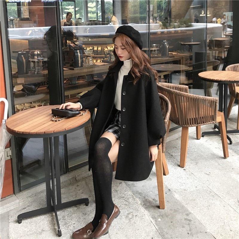 2021毛呢大衣秋冬女装新款可爱萝莉宽松学生外套韩版流行包邮