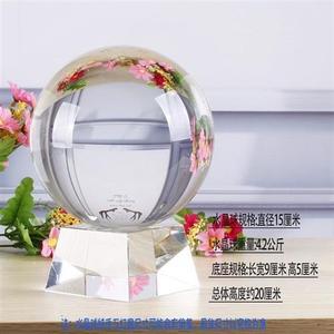 水晶玻璃珠 水晶球珠 光珠 纯透明光球 透明实心大玻璃球