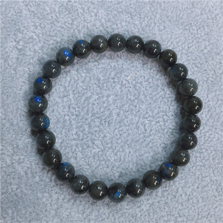 Chinese natural gray moonlight single circle hand jewelry student style multi circle three circle chain pull feldspar female blue moon water