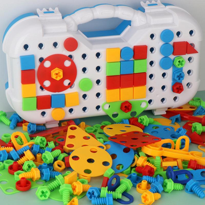 中國代購|中國批發-ibuy99|积木|儿童玩具3-6周岁宝宝积木玩具 diy拆装螺丝积木玩具 男孩夜市地摊