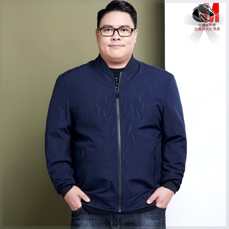 Middle aged mens extra large spring and autumn jacket loose fat dad extra large mens coat