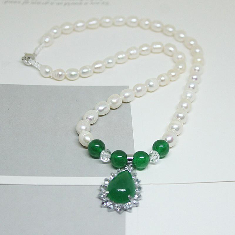 经典串珠天然养殖淡水珍珠项链送妈D妈婆颈礼物气质百珠真珍搭婆