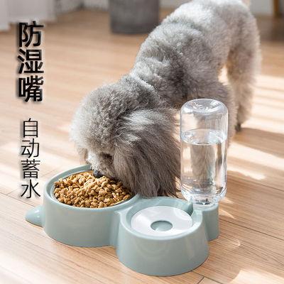 宠物用品双碗自动饮水宠物猫粮狗粮盆泰迪狗盆猫盆狗碗猫碗