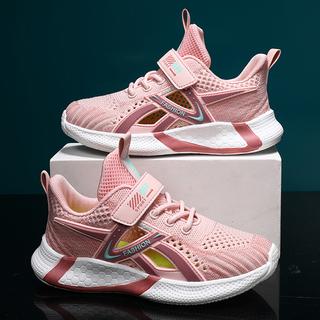 女童鞋子2021夏秋季新款飞织透气网面儿童女孩爆款春秋运动鞋