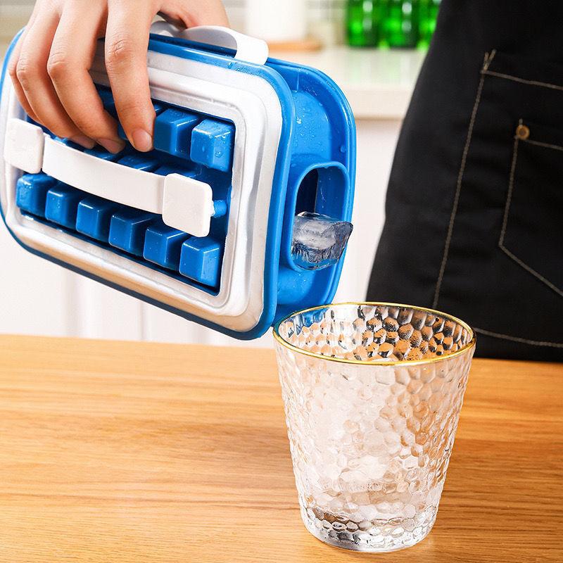 折叠冰格食品级硅胶储存冰盒36格冰块模具酒饮速冻神器制冰水壶