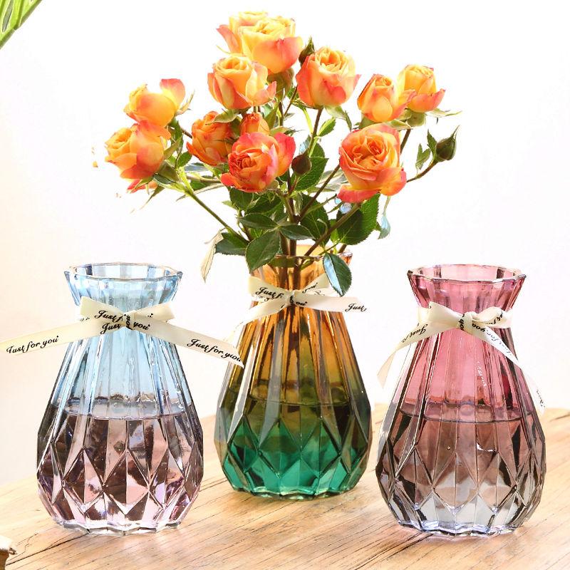 中國代購|中國批發-ibuy99|摆件|欧式创意玻璃花瓶透明水培绿萝植物玻璃花瓶家用插花客厅装饰摆件