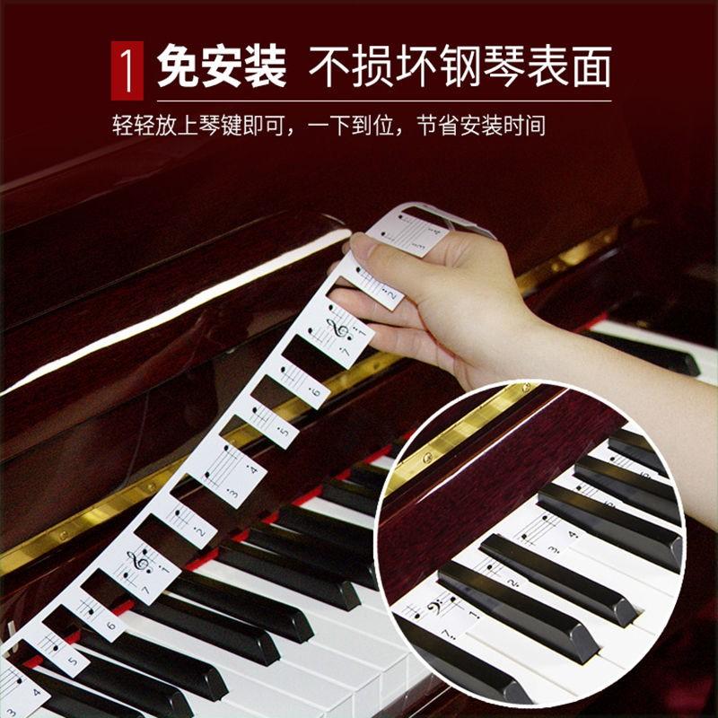 中國代購|中國批發-ibuy99|键盘|多唯舞指书屋钢琴键盘贴纸电钢琴电子琴琴键贴键盘条88键音标贴