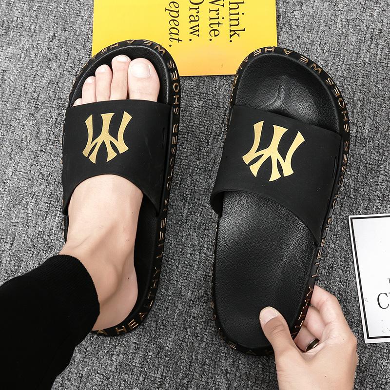 中國代購|中國批發-ibuy99|凉鞋男|夏季拖鞋男潮流室外男士沙滩一字拖时尚个性凉拖韩版休闲外穿凉鞋