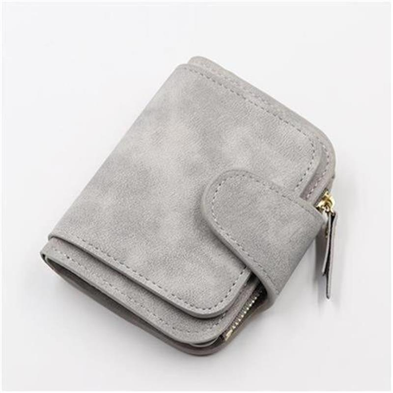 I new womens wallet short Korean 3% off XY zero wallet g time l zipper buckle card bag two color face