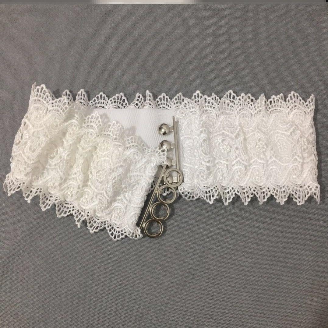小清新蕾丝腰封女宽外搭松紧弹力时尚百搭白色装饰腰带连衣裙配饰