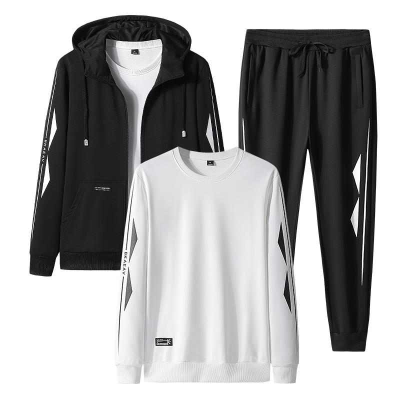 豪迈特步正品运动卫衣套装男士2021新款春秋季潮开衫休闲外套大码