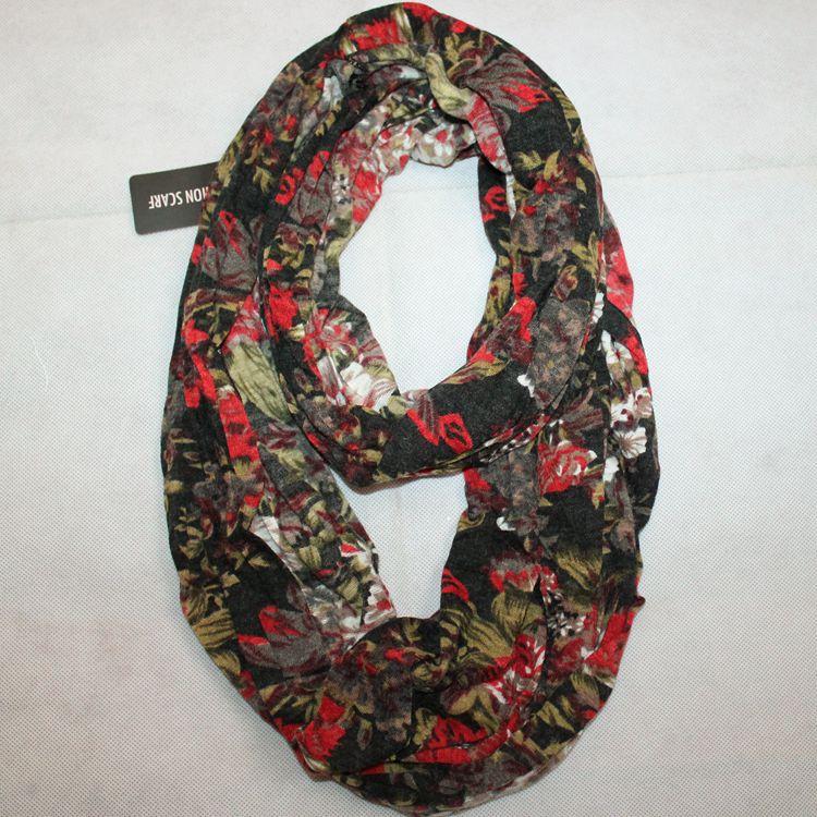 Оригинал иностранной торговли в Европе и Америке D & Y моды осень/зима шарф snood красный шарф коричневый штамп мельнице Мао Chun женщин