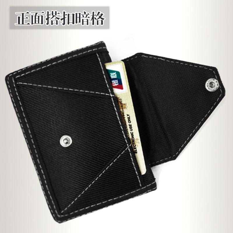 男生韩版帆布尼龙三折运动短款z小钱包搭扣拉链零钱学生折叠钱夹