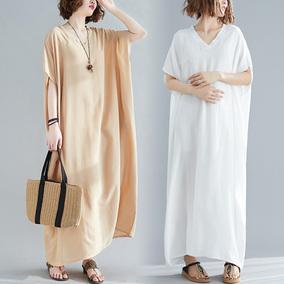 200斤肥mm可穿夏季新款宽松连衣裙