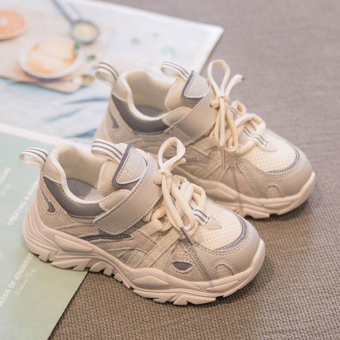 春秋款新款男童运动鞋男秋季男孩网面女童鞋子潮童2021儿童老爹鞋