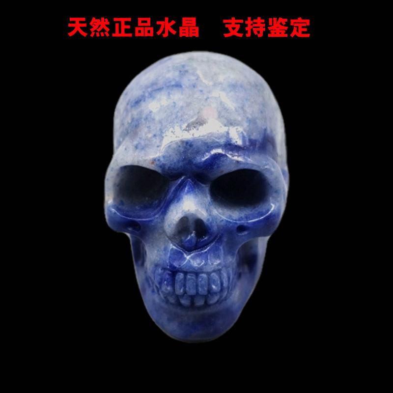 现货骨头粉紫紫水晶摆件辟邪蛋白石水晶骷髅头头骨Z天然能量石