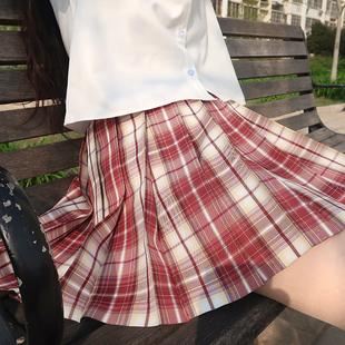 【草莓酪酪】 一尺間jk畫手原創格子百褶裙西式短裙