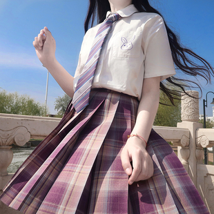 【多肉葡萄】一尺間jk畫手原創格子百褶裙短裙中