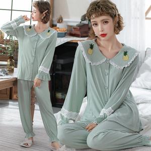 實拍月子服夏季產婦純棉哺乳衣喂奶寬松孕婦睡衣全階段春秋家居服