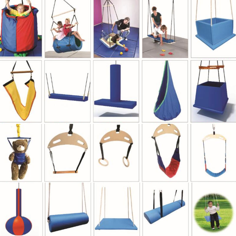 Kindergarten early education physical training Swing Baby jump crescent single pole birds nest hanging bag hanging lifting board
