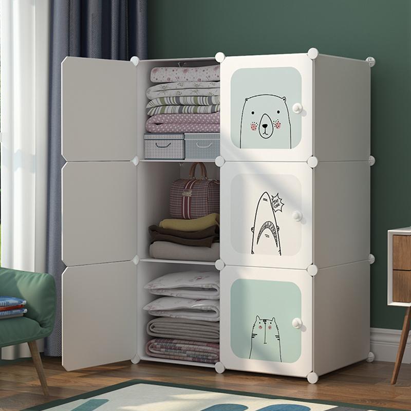 衣柜收纳柜简易布衣柜床上用出租房衣服整理储物柜子省空间抽屉式