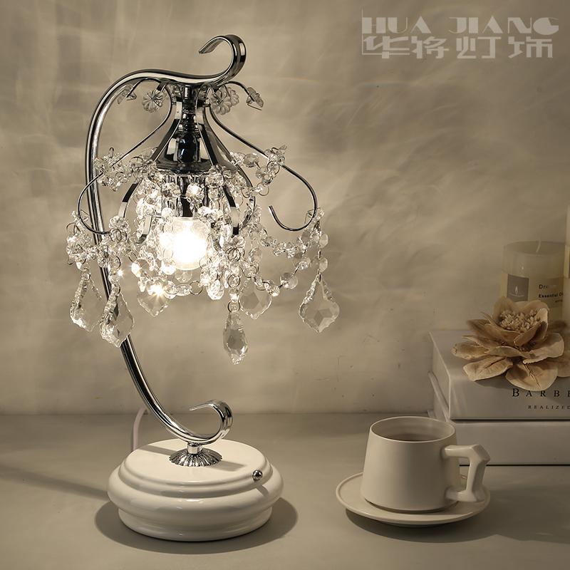 创意韩式水晶触摸台灯卧室调光台灯