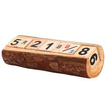 Wooden Calendar Date Retro home wine cabinet decorations Living room Desktop desk small Ornaments Creative crafts