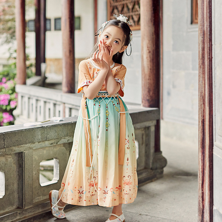 中国风夏季新款儿童汉服女童装连衣裙宝宝唐装改良童裙品牌原创